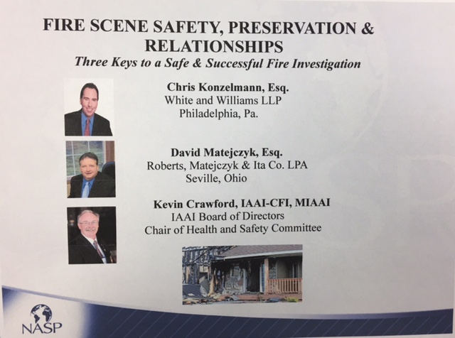 David matejczyk firm news rmi partner co presenter fire scene safety preservation relationships three keys to a successful fire investigation malvernweather Gallery